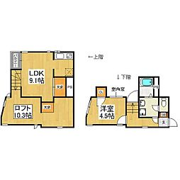 JR鹿児島本線 箱崎駅 徒歩5分の賃貸アパート 1階1LDKの間取り