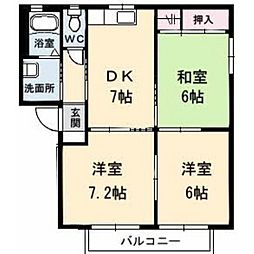 シャーメゾンコンファーレ A棟[202号室]の間取り