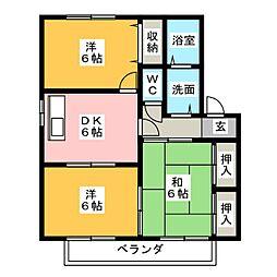 セキュアハイム[2階]の間取り