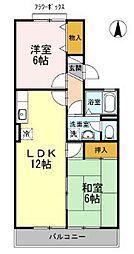シャルムK・S[1階]の間取り