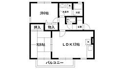 メゾンクレール 2号棟[1階]の間取り