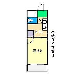 サンライフ福井[2階]の間取り