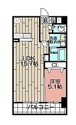 ロータス博多[2階]の間取り