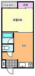 銀商ビル[3階]の間取り