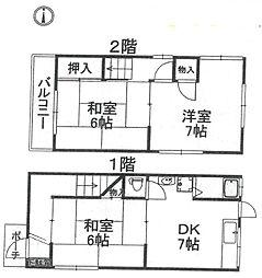 [一戸建] 兵庫県尼崎市栗山町1丁目 の賃貸【/】の間取り