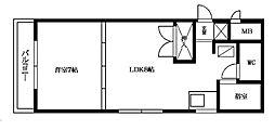 カステリア大濠[2階]の間取り
