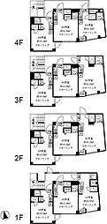 プレシャスイージス 2階ワンルームの間取り