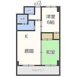 アクティブプラザ上野幌[5階]の間取り