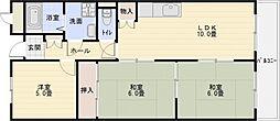 メゾン離宮[6階]の間取り