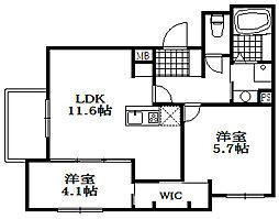仮)山本通4丁目D-room[3階]の間取り