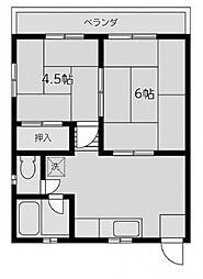 おっこしハイツ[2階]の間取り