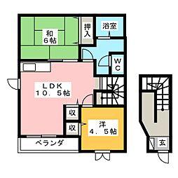 ロジュマンNODA B[2階]の間取り