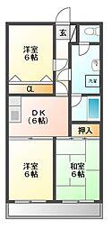 神奈川県川崎市宮前区神木本町2丁目の賃貸マンションの間取り
