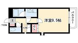愛知県名古屋市昭和区塩付通6の賃貸マンションの間取り