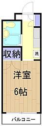 メゾンSEIWA[201号室]の間取り