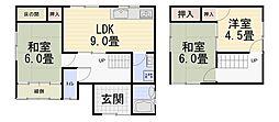 [一戸建] 石川県金沢市窪4丁目 の賃貸【/】の間取り