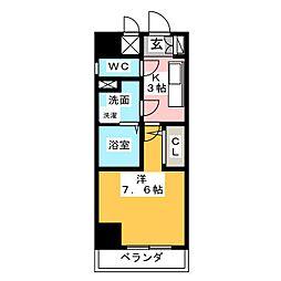 現代ハウス黄金[8階]の間取り