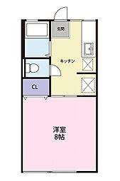 ハイム横割[2階]の間取り