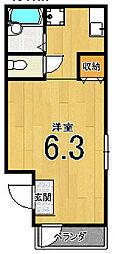 ボスコ西院[2階]の間取り