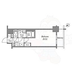 名古屋市営東山線 新栄町駅 徒歩7分の賃貸マンション 12階1Kの間取り