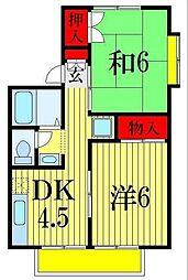 コーポ三恵[2階]の間取り