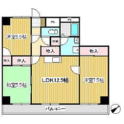 上田第一コーポ[4階]の間取り