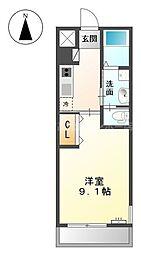 香川県高松市花ノ宮町2丁目の賃貸アパートの間取り