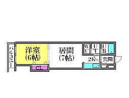北海道札幌市豊平区美園一条3丁目の賃貸マンションの間取り