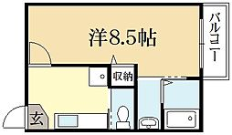 リエール紫野[3階]の間取り