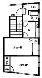 牧野第一 ビル[401号室]の間取り