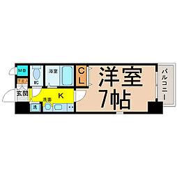 プレサンス新栄デコール[6階]の間取り