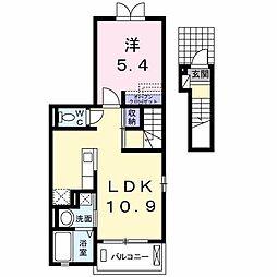 レ・セーナ[2階]の間取り