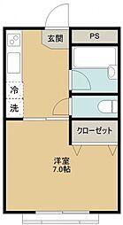 プチメゾンキーボード[203号室号室]の間取り