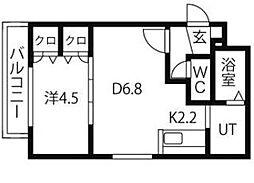 ルーエ北円山[302号室]の間取り