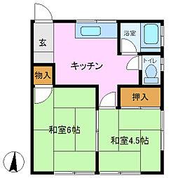日当荘[2階]の間取り