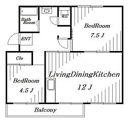 第二あやめ台住宅[5階]の間取り