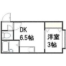 北海道札幌市豊平区平岸一条2丁目の賃貸アパートの間取り