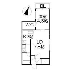 北海道札幌市中央区北三条西23丁目の賃貸マンションの間取り