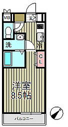 アゼリア鎌倉B[303号室]の間取り