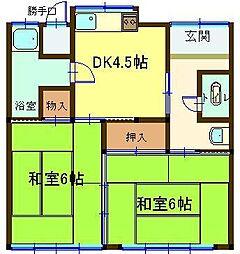 [一戸建] 鳥取県米子市車尾2丁目 の賃貸【/】の間取り