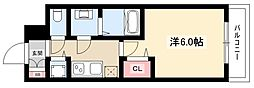 プレサンス名古屋幅下ファビュラス 11階1Kの間取り