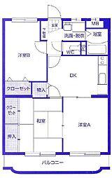 コンフォート桜[103号室]の間取り