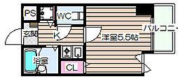 エスティライフ梅田新道[11階]の間取り