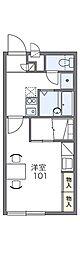 レオパレスTERADA165[1階]の間取り