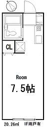 ユーコート東村山[101号室]の間取り