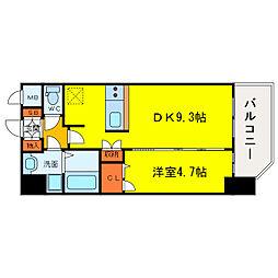 プレサンス野田阪神駅前ザ・プレミアム[8階]の間取り