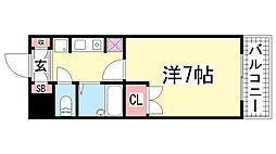 フローラル神戸[601号室]の間取り