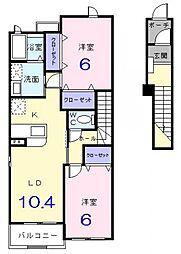 メリディオI[2階]の間取り