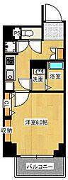 レジュールアッシュ梅田AXIA[10階]の間取り