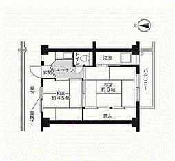 ビレッジハウス朝日ヶ丘2号棟[1階]の間取り